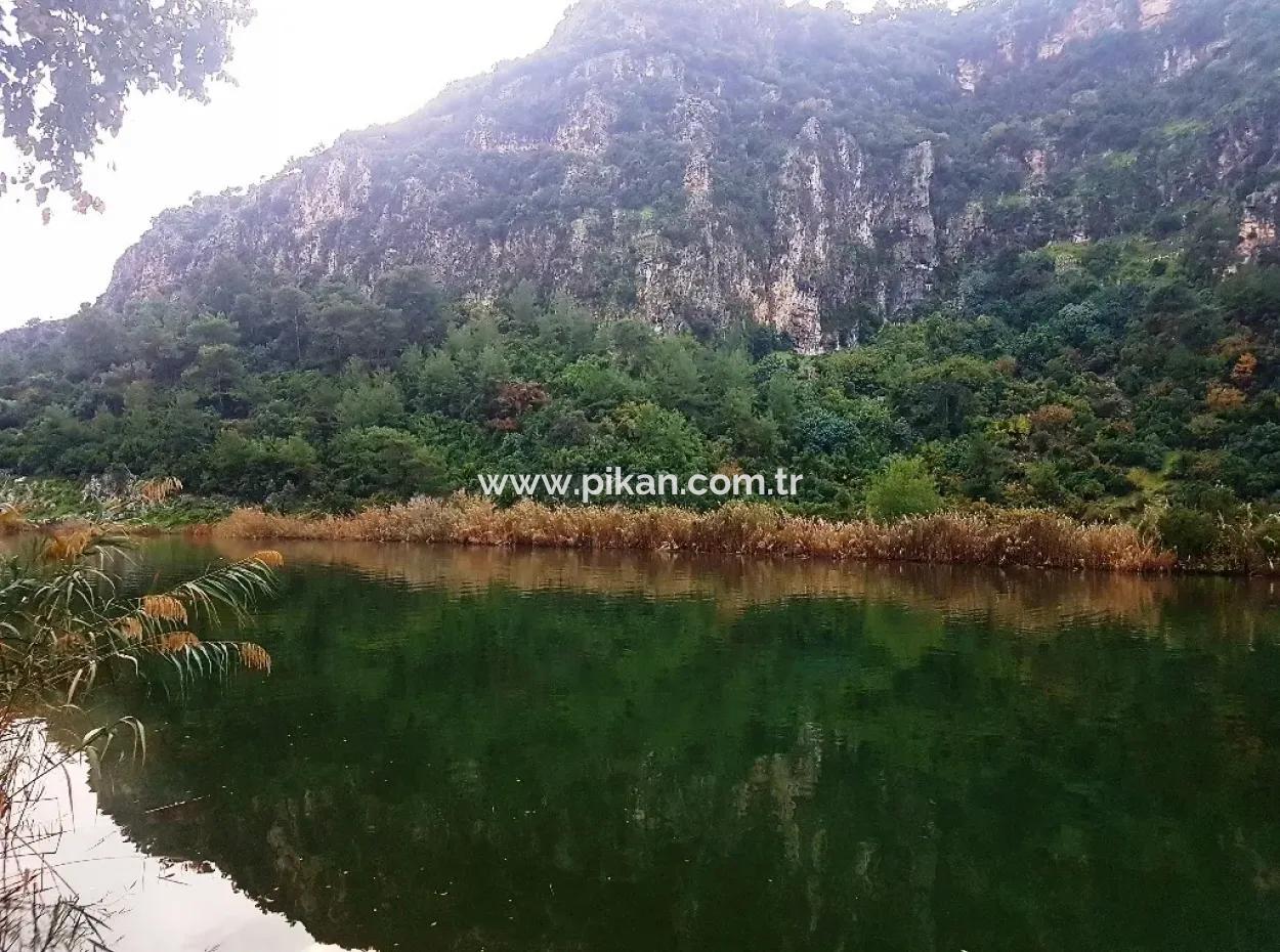 Dalyan Da Satılık Kanala Sıfır Turizm İmarlı Arsa