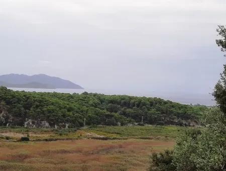 Muğla Sarıgermede Satılık Deniz Manzaralı Arsalar
